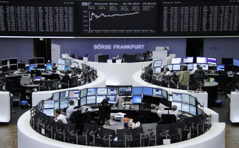 Stock markets showed signs of stabilizing on Tuesday, with European shares and U.S. futures rising following a mixed session in Asia that was dominated by the further declines in the yuan. The euro nudged higher as Germany's coalition government dodged a crisis over migrants.