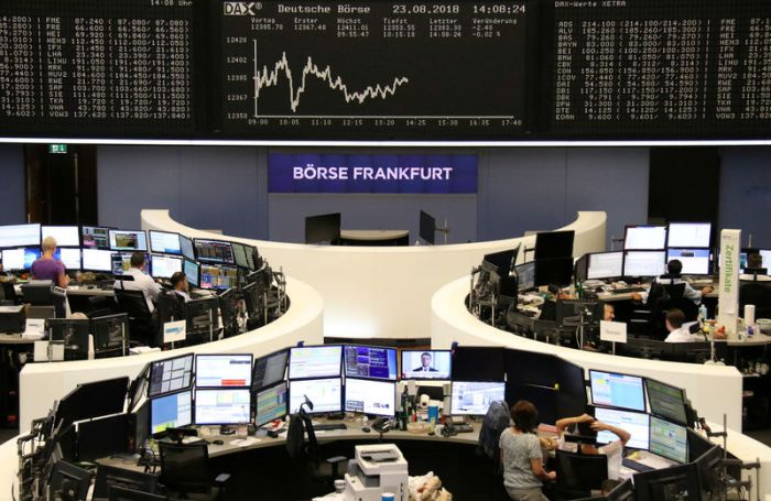 The German share price index DAX is seen at the stock exchange in Frankfurt