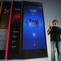 Xiaomi CEO Leijun speaks at the launch of the new Xiaomi smartphone and Xiaomi Tv in Beijing on September 5, 2013. China's Xiaomi has poached a key Google executive involved in the tech giant's Android phones, in a move seen as a coup for the rapidly growing Chinese smartphone maker. AFP PHOTO / WANG ZHAO (Photo credit should read WANG ZHAO/AFP/Getty Images)