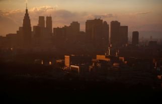 High-rise buildings are seen at the Shinjuku business district during sunset in Tokyo, Japan, March 7, 2017. Picture taken March 7, 2017. REUTERS/Toru Hanai