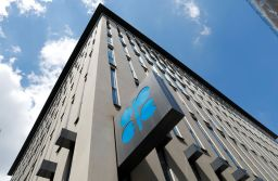 FILE PHOTO: The logo of the Organization of the Petroleoum Exporting Countries (OPEC) at OPEC's headquarters in Vienna, Austria, June 19, 2018. REUTERS/Leonhard Foeger/File Photo