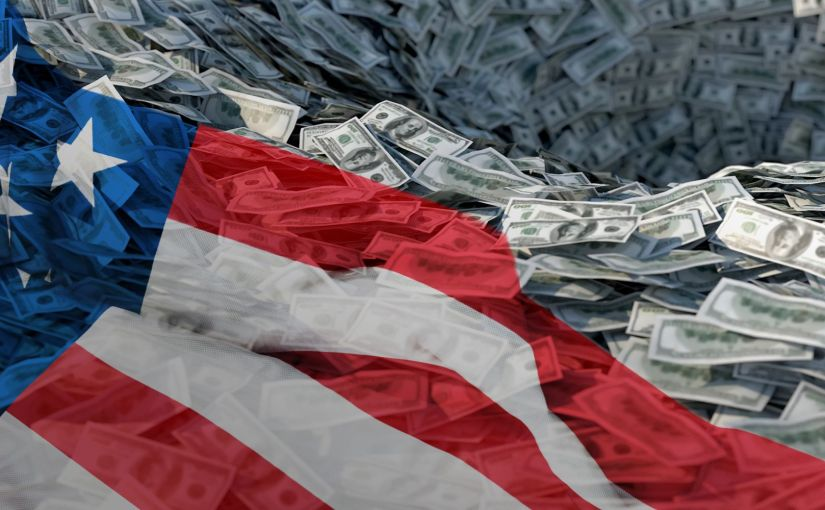 US make it into the ranking of countries with the highest levels of governmentdebt.