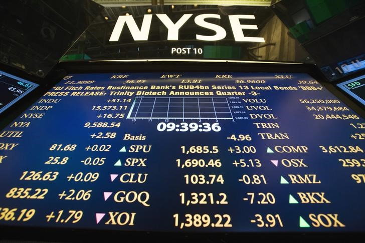 U.S. Stocks Open Higher on Central Bankers' Upbeat Views.The Dow Jones Industrial Average and S&P 500 were on track to make a run at freshrecords.