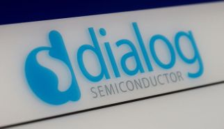 Dialog semiconductor logo is pictured at a company building in Germering near Munich, Germany August 15, 2016. REUTERS/Michaela Rehle